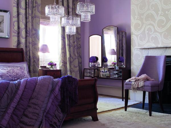 Pin By Linenplace On Bedroom Glamourous Bedroom Purple Bedroom Design Purple Master Bedroom