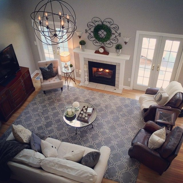 Patricia O Mara On Instagram Another Shot At My New Orb Chandelier Large From Ballard Desig Living Room Furniture Layout Large Living Room Rugs Family Room,Inspiration Modern Creative Brochure Design