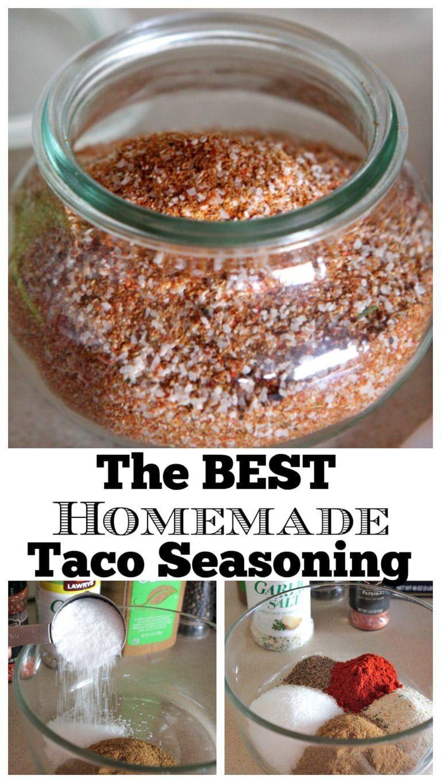 The Best Homemade Taco Seasoning Recipe Homemade tacos