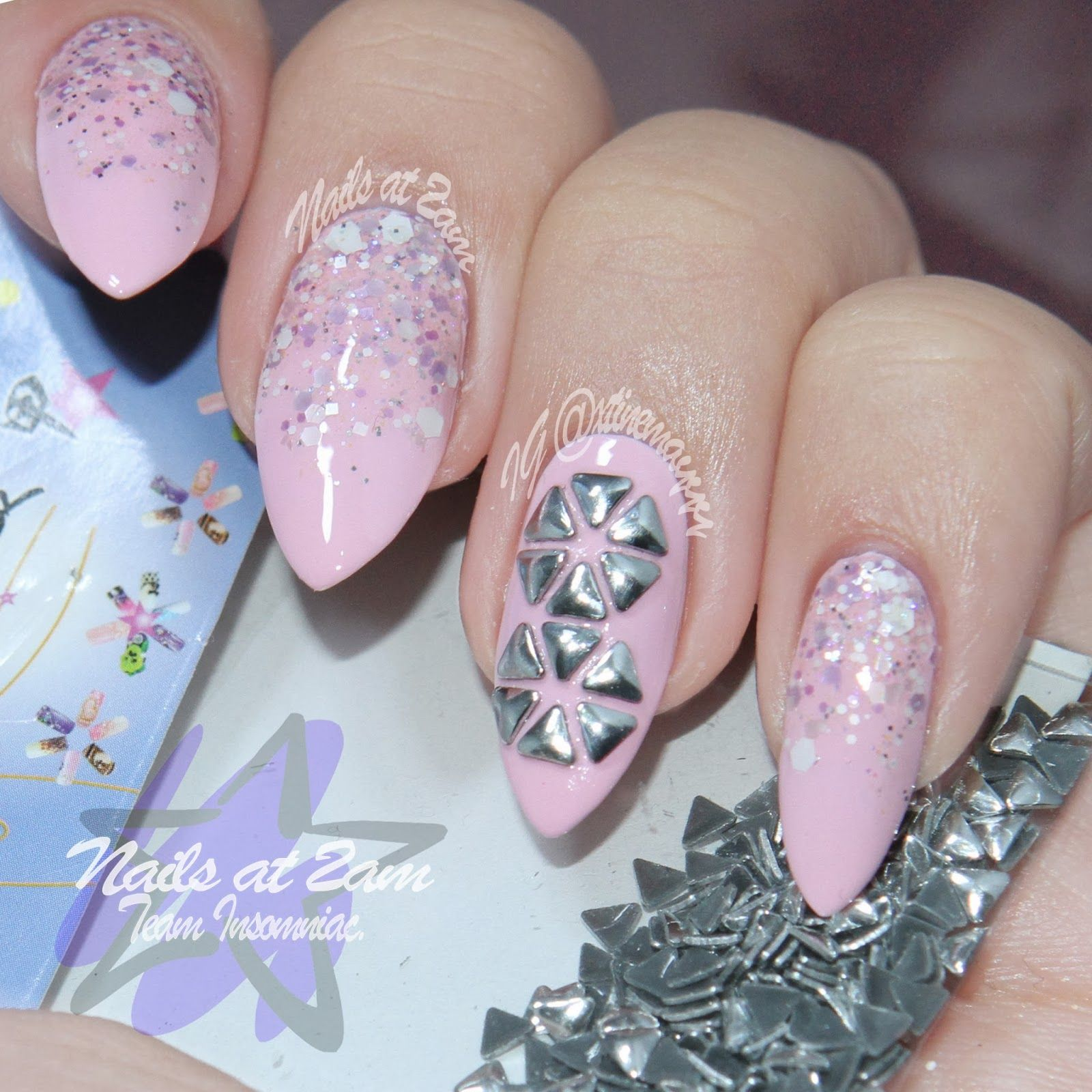 Nails At 2am: Born Pretty Store Review: Triangle Nail Art Studs ...