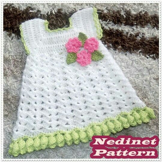 Crochet Baby Dress Pattern Crochet Baby Clothing Pattern Crochet