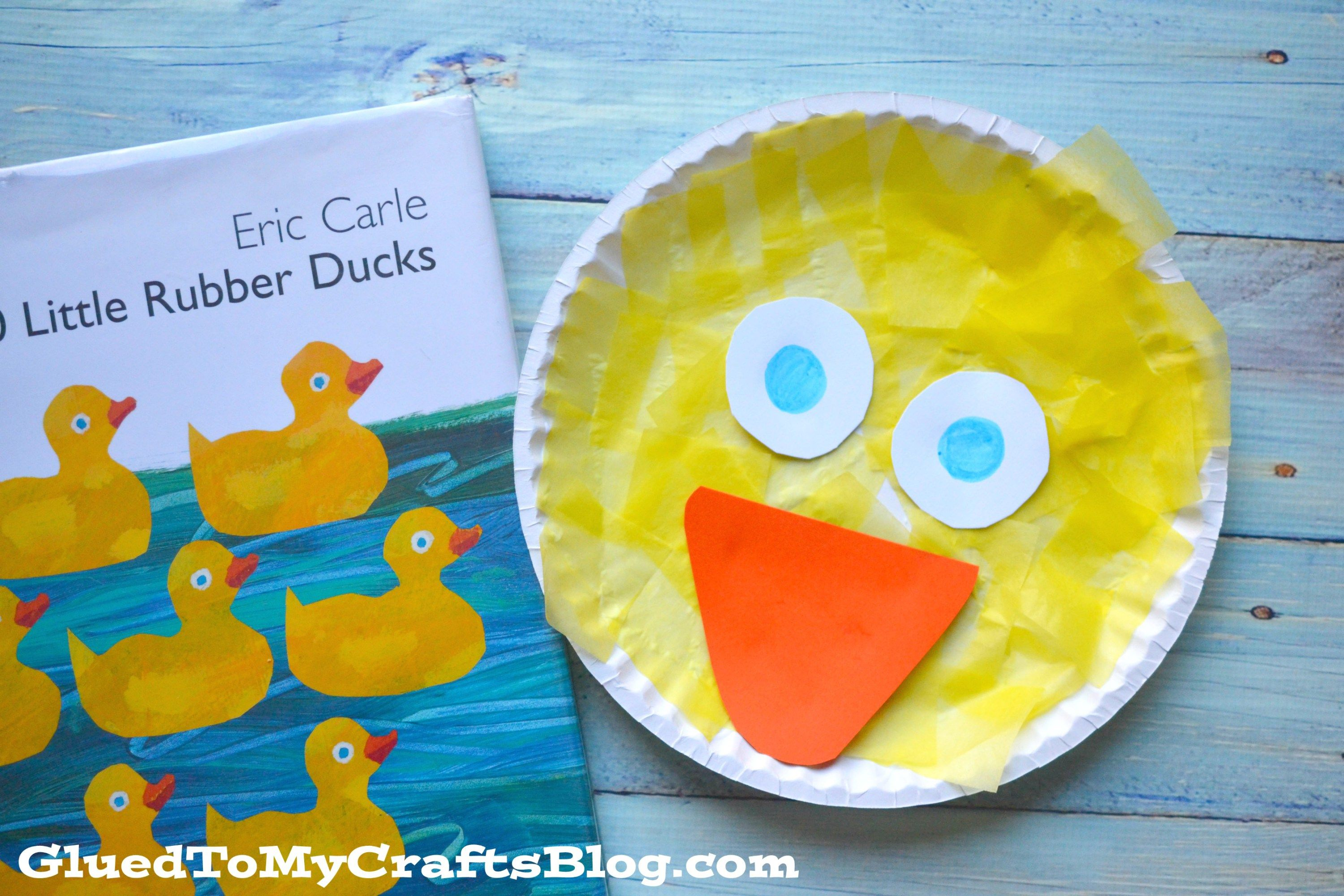 Tissue Paper Paper Plate Duck Kid Craft Idea For Story Time Duck Crafts Preschool Crafts Crafts For Kids
