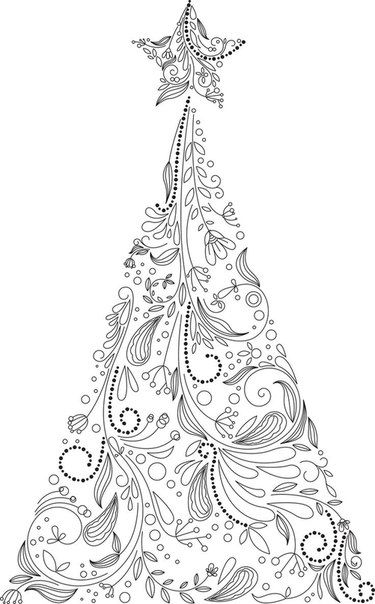 iColor  - new christmas tree xmas coloring pages
