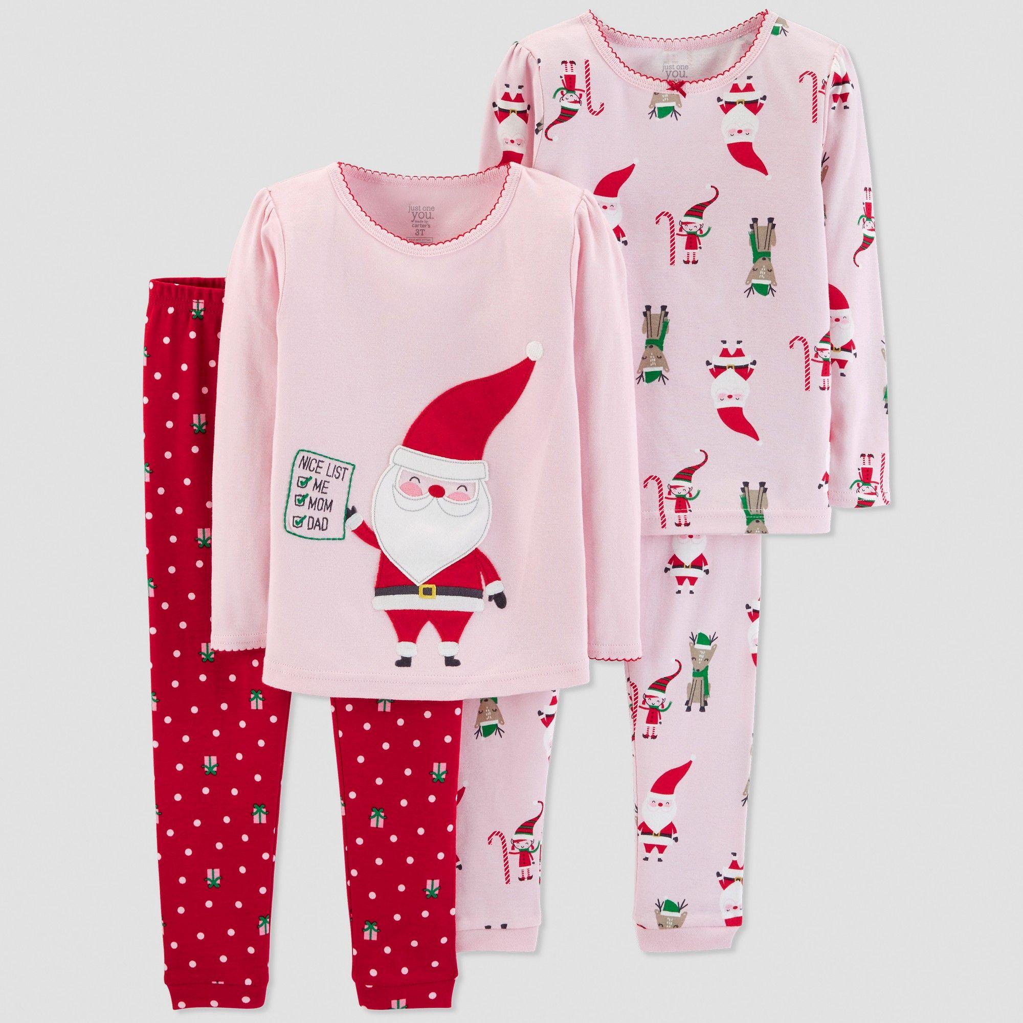 NEW Just One You Carters Pajamas Girls size 18 months Fleece Christmas Santa