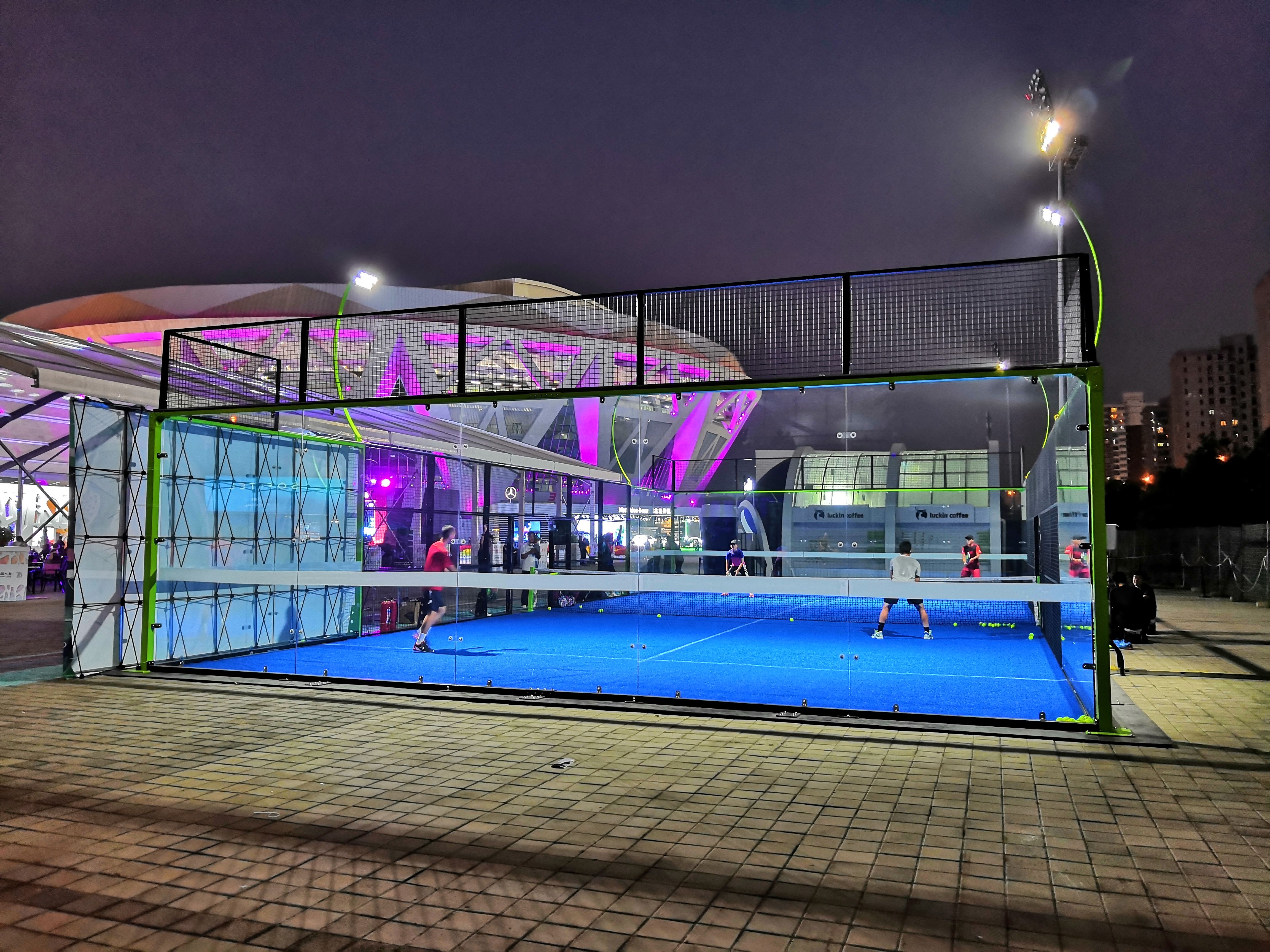 our padel court in China National Tennis Center Diseños
