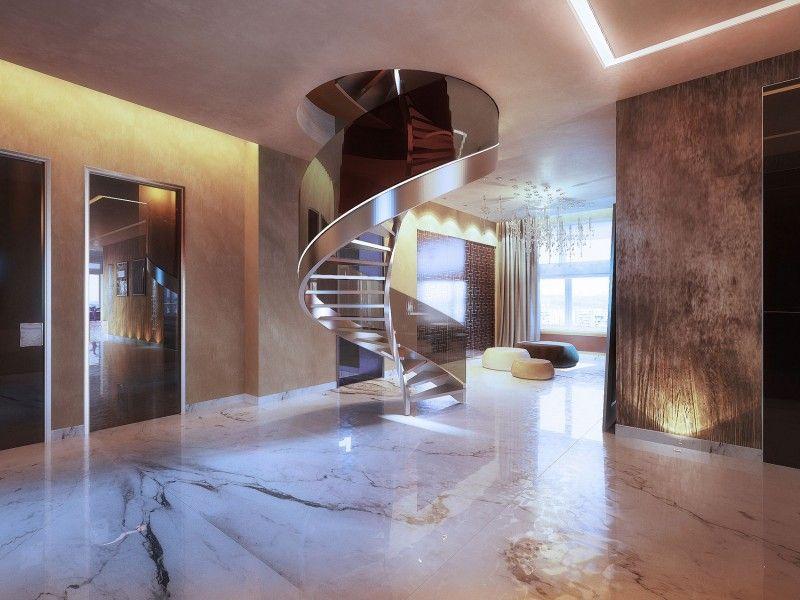 Penthouse on Gilyarovskogo Street by Oxana Yuryeva Penthouses - ideen moderne designtreppen individuellen wohnstil