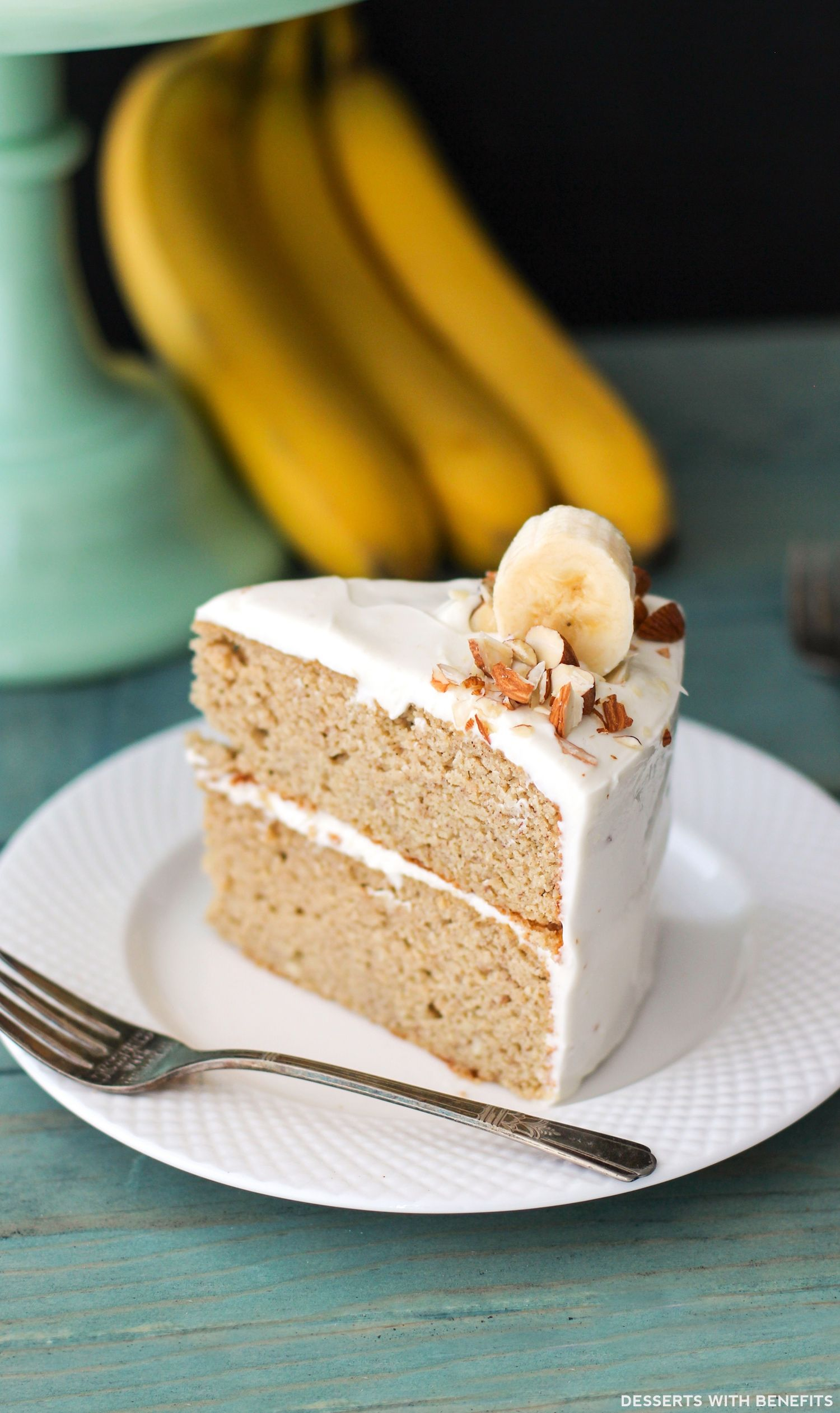 Healthy Banana Cake with Cream Cheese Frosting | Recipe | Healthy banana  cakes, Healthy dessert recipes, Dessert recipes
