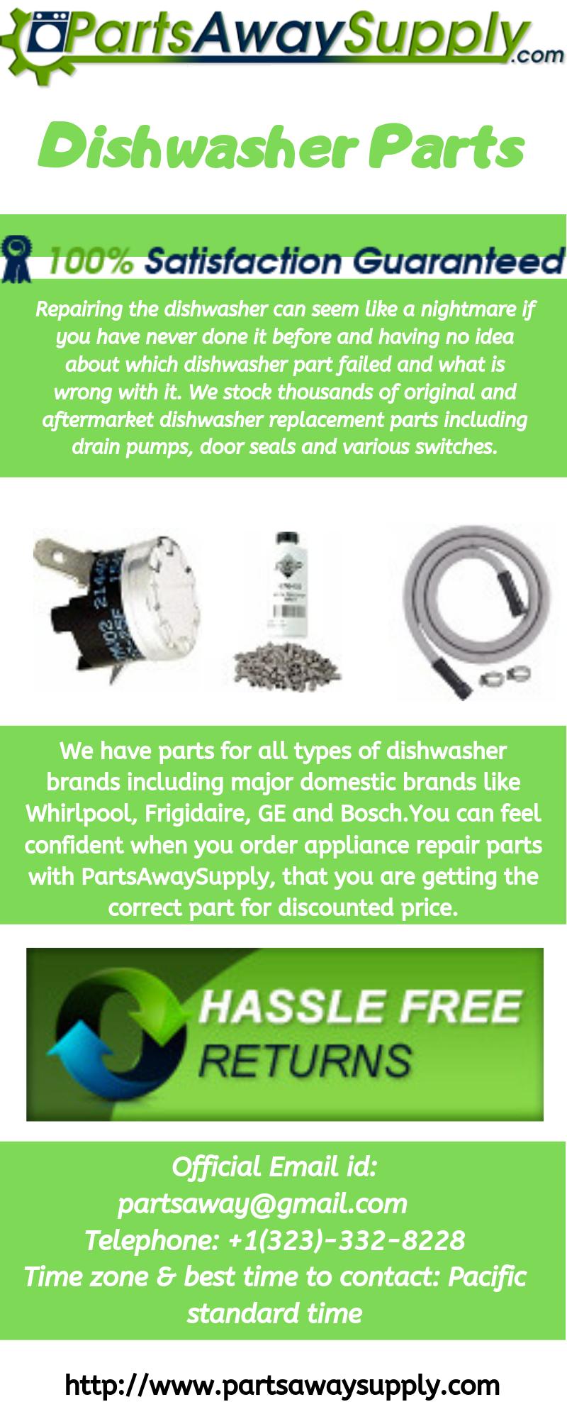 Best Range Of Dishwasher Parts At Home Appliance Parts Seller We