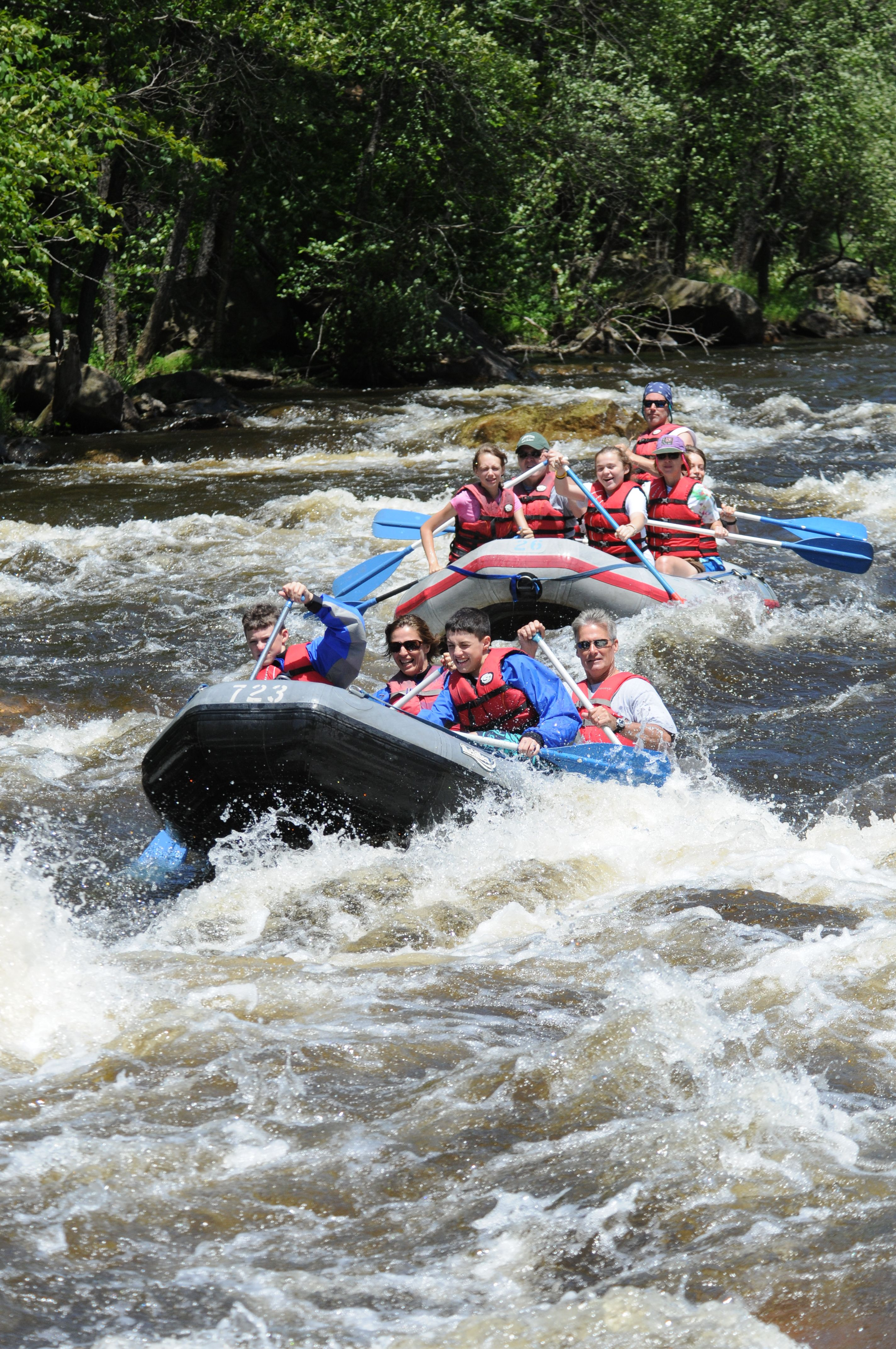 Get your adrenaline pumping on a whitewater rafting trip
