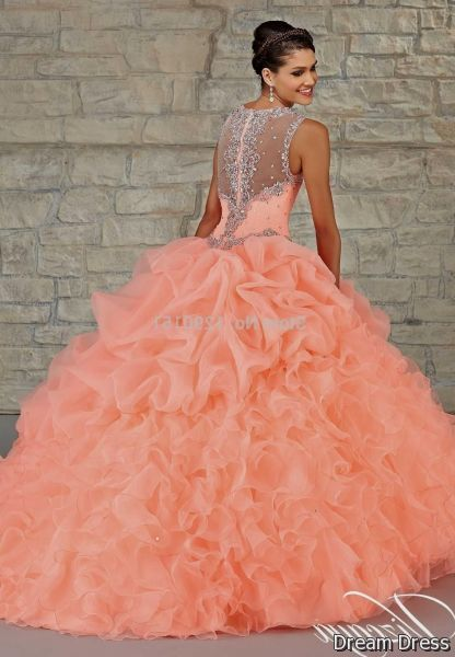 839fea543dd Cool salmon quinceanera dresses 2017-2018 Check more at  http   fashionmyshop.