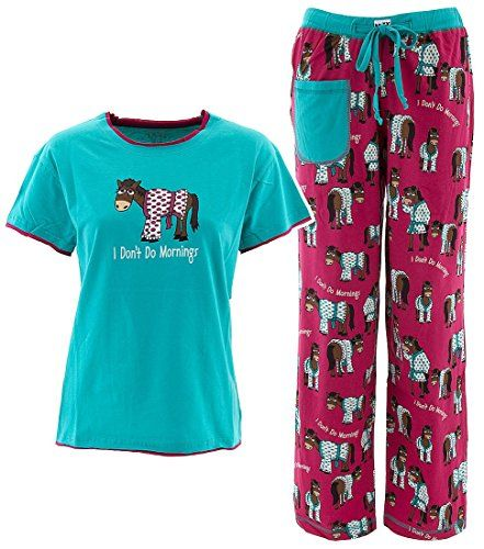 LazyOne Womens//Ladies Dont Do Mornings Horse PJ Trousers
