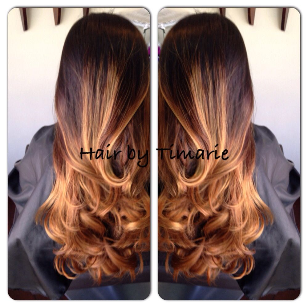 Honey Balayage In Natural Black Hair We Do Cellophane Treatments Once A Month To Keep The Tone