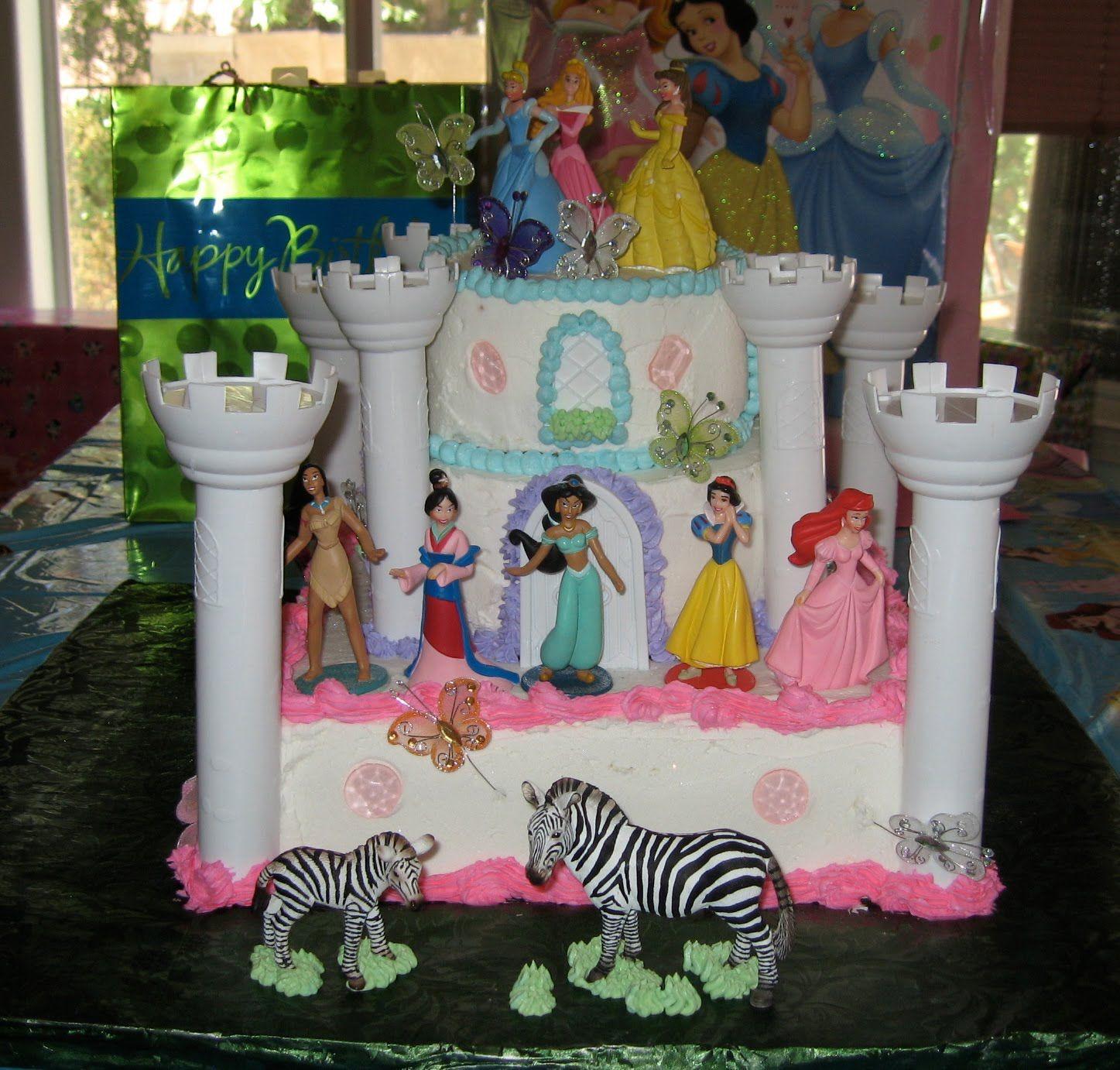 disney princess white castle cake