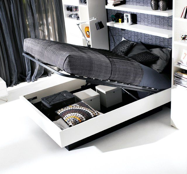 Hydraulic Storage Bed By Boconcept With Images Storage Bed