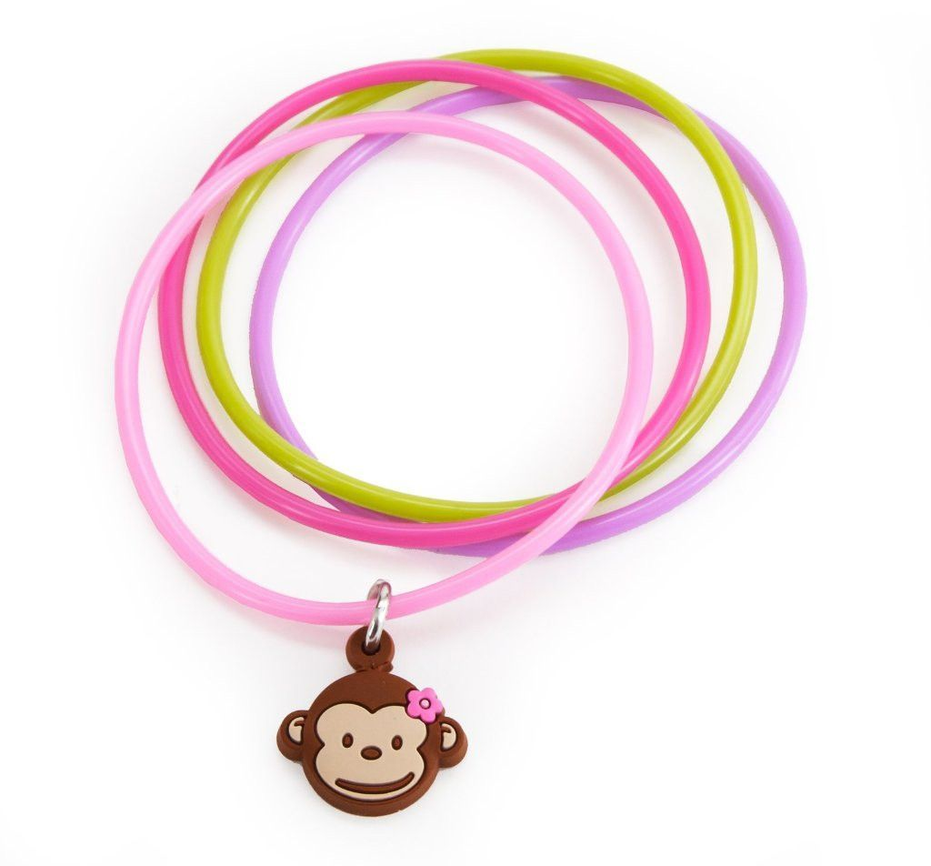 pink mod monkey bracelets [set of 4] Case of 24