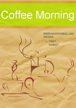 Editable Coffee Morning Poster Free Eyfs Ks1 Resources