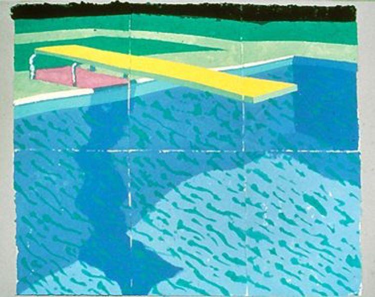 Reproduction De David Hockney Plongeoir Avec Ombre Tableau Peint à La Main Dans Nos Ateliers Peinture à L Huile Sur Toile David Hockney Art Fou Peinture