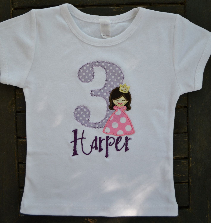 Princess Birthday Shirt Birthday shirts, Princess