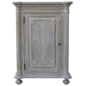 Jeffrey French Country Grey Wash Mahogany Right Door Nightstand