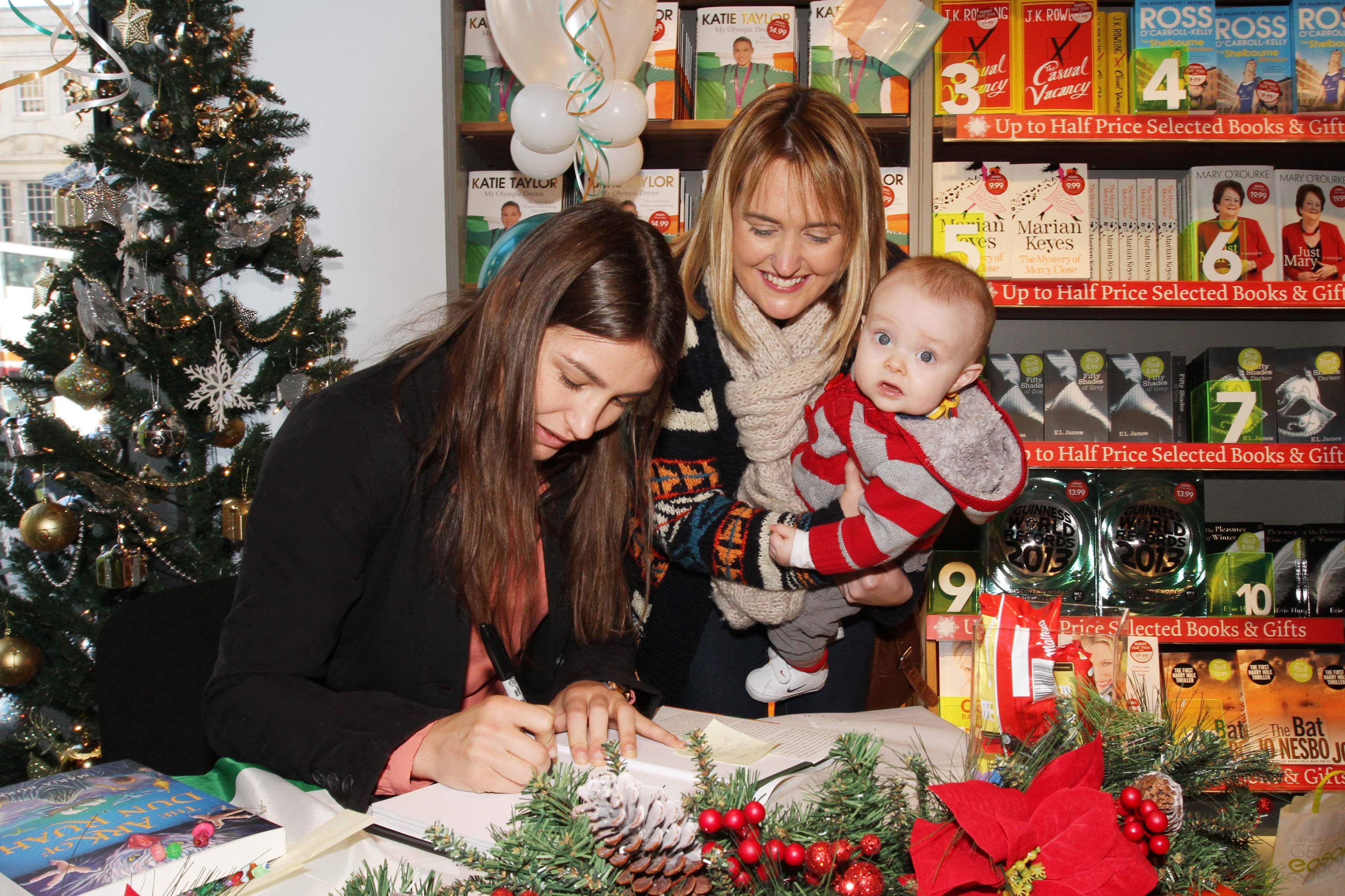 Katie Taylor book signing in Cork - Nov 2012