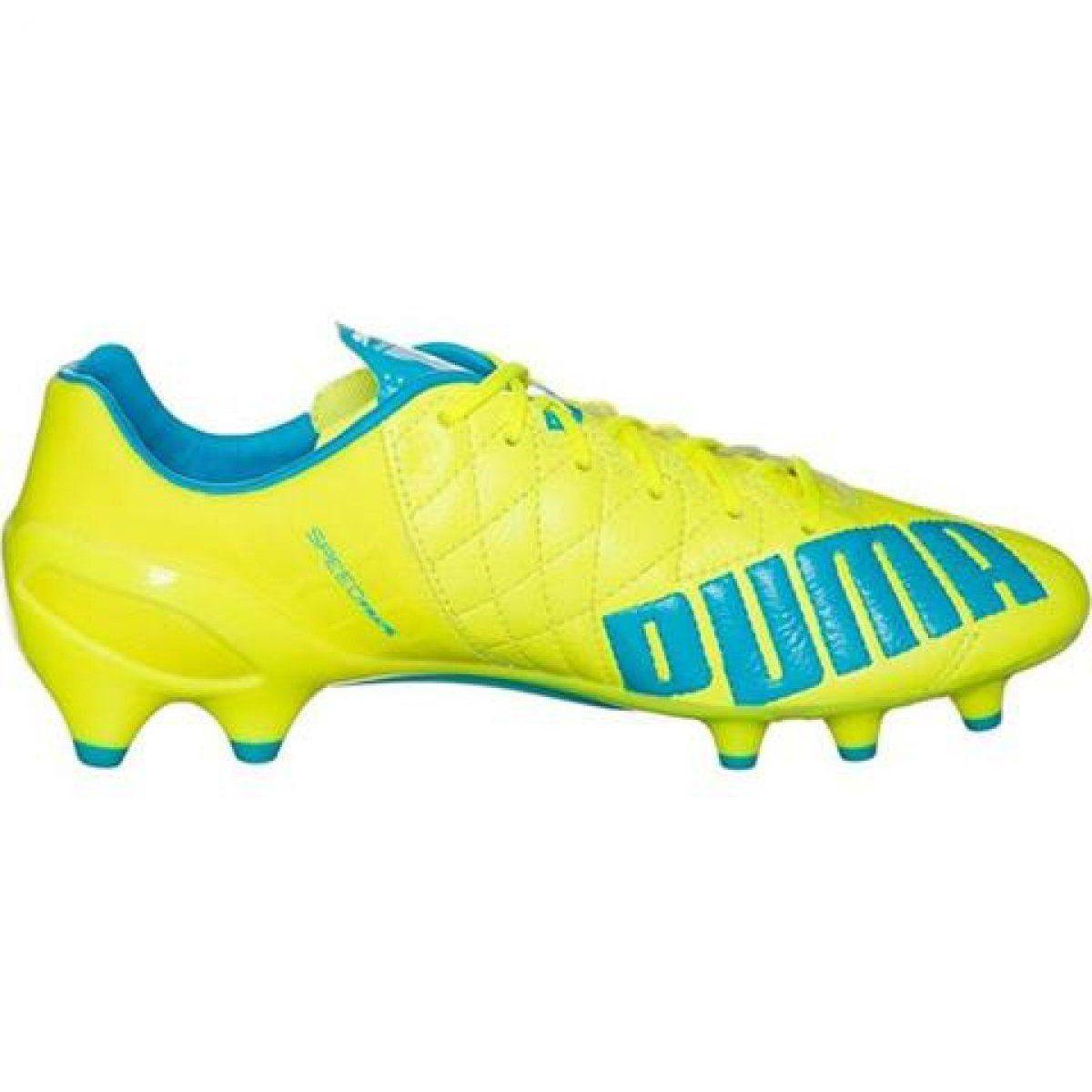 Buty Pilkarskie Puma Evo Speed 1 4 Lth Fg M 103615 03 Zolte Zolte Football Shoes Free Shipping Shoes Puma