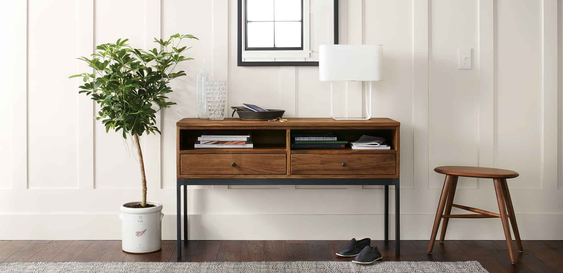 Console Table With Storage Perfect For Small Spaces Modern