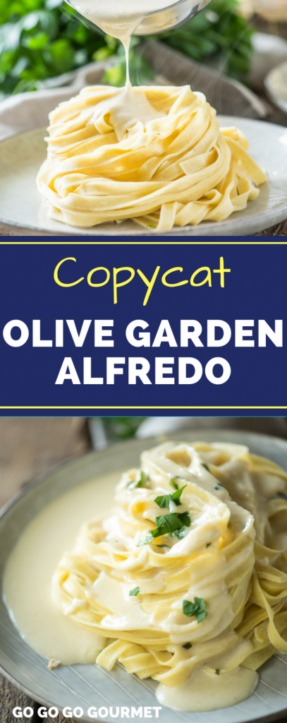 This Homemade Copycat Olive Garden Alfredo Sauce is a fast