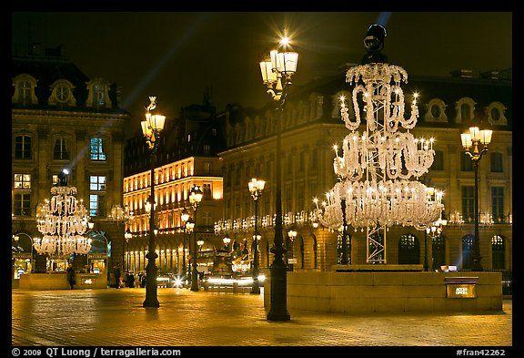 Christmas Lights On Place Vendome Paris France Christmas In Paris Christmas Lights Place Vendome