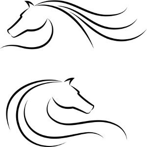 Horses Head Outline Horse Tattoo Design Sister Tattoos Matching Sister Tattoos