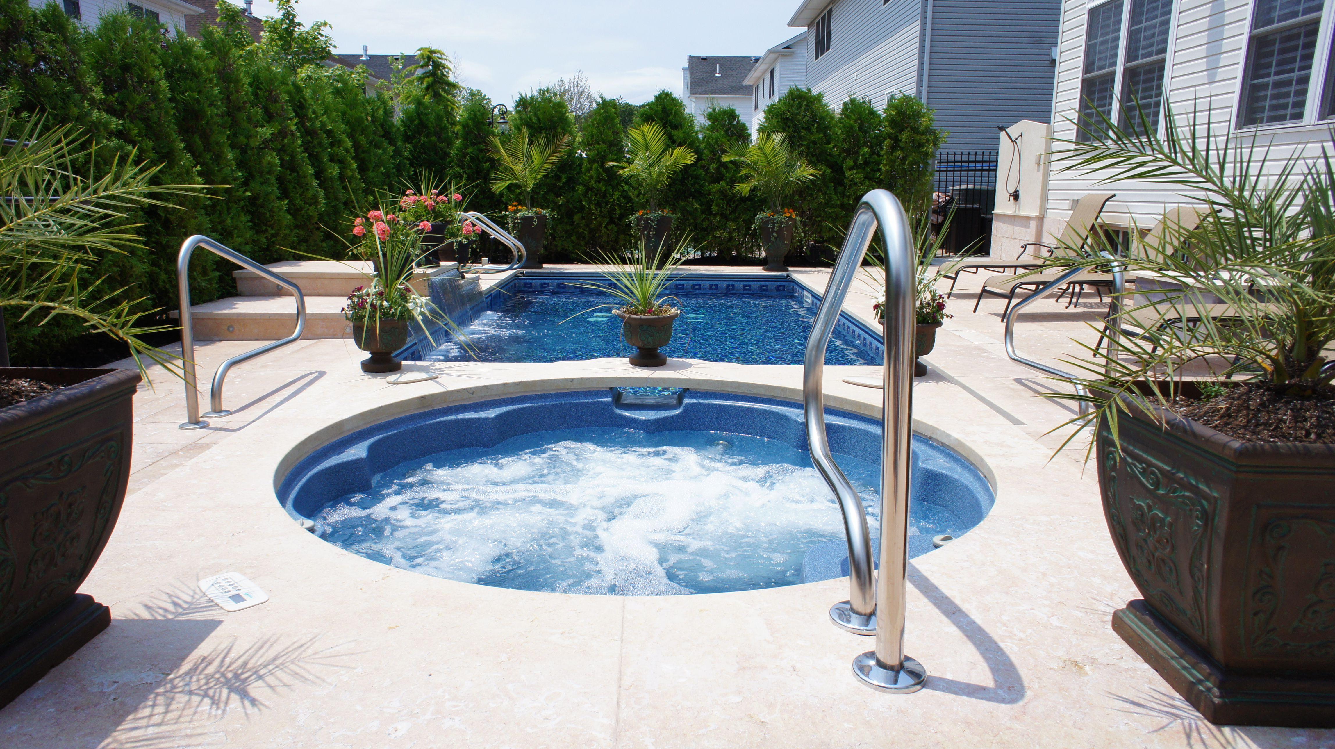Outdoor Spa | Inground Hot Tub | Fiberglass | Mill Bergen Pools ...