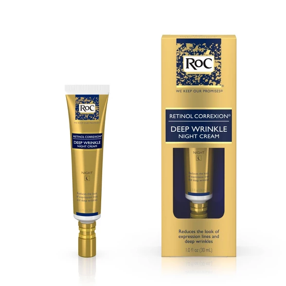 Roc Retinol Correxion Deep Wrinkle Anti Aging Night Face Cream 1oz Anti Aging Skin Products Night Face Cream Retinol
