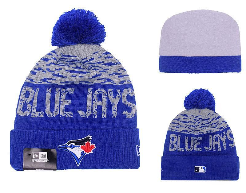 Men s   Women s Toronto Blue Jays New Era MLB On-Field Sports Knit Pom Pom  Beanie Hat - Grey   Blue 217f11c47
