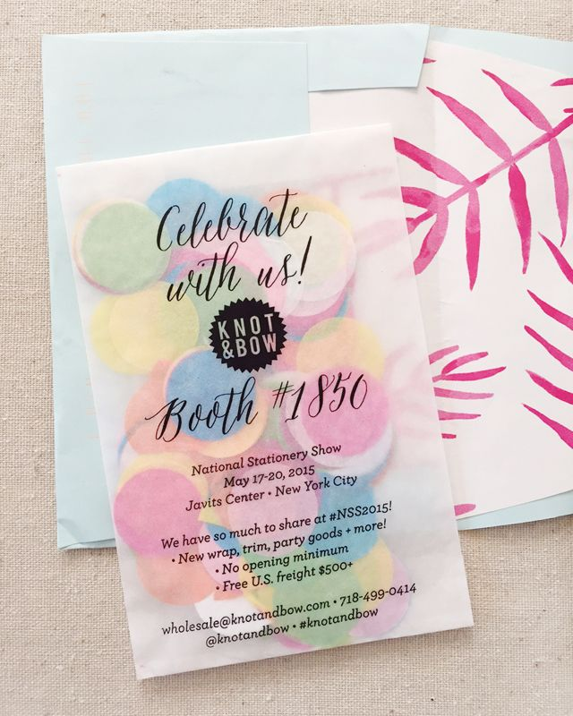 NSS 2015 Mailers | Invitation design, Confetti and Weddings
