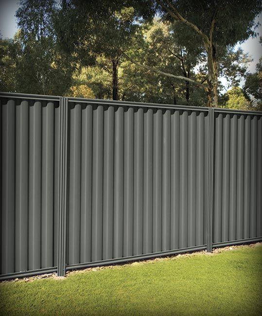 Sheet Metal Privacy Fence Fencing Fences Fence Posts Stratco 21