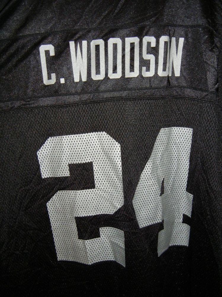 b84de3b5 CHARLES WOODSON #24 RETRO OAKLAND RAIDERS BLACK 5XL NFL REEBOK JERSEY  #Reebok #OaklandRaiders