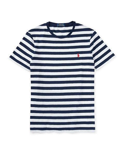 40826769595 Striped Cotton Jersey T-Shirt - Polo Ralph Lauren Tees - RalphLauren.com