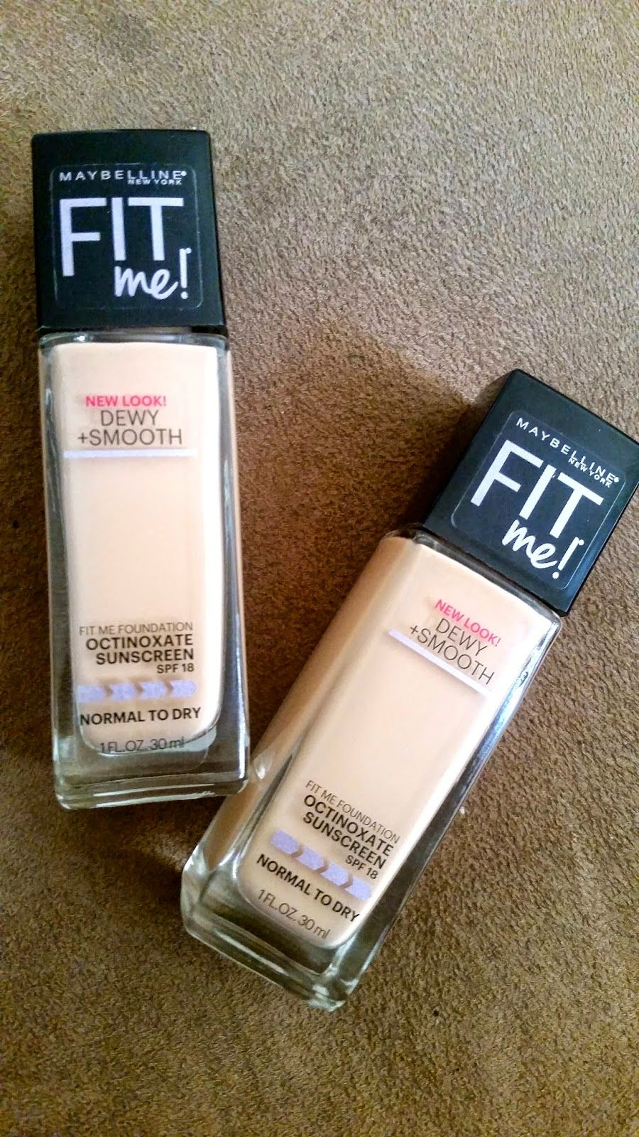 Foundation for Normal to Dry Skin: Maybelline FIT Me Dewy & Smooth ...
