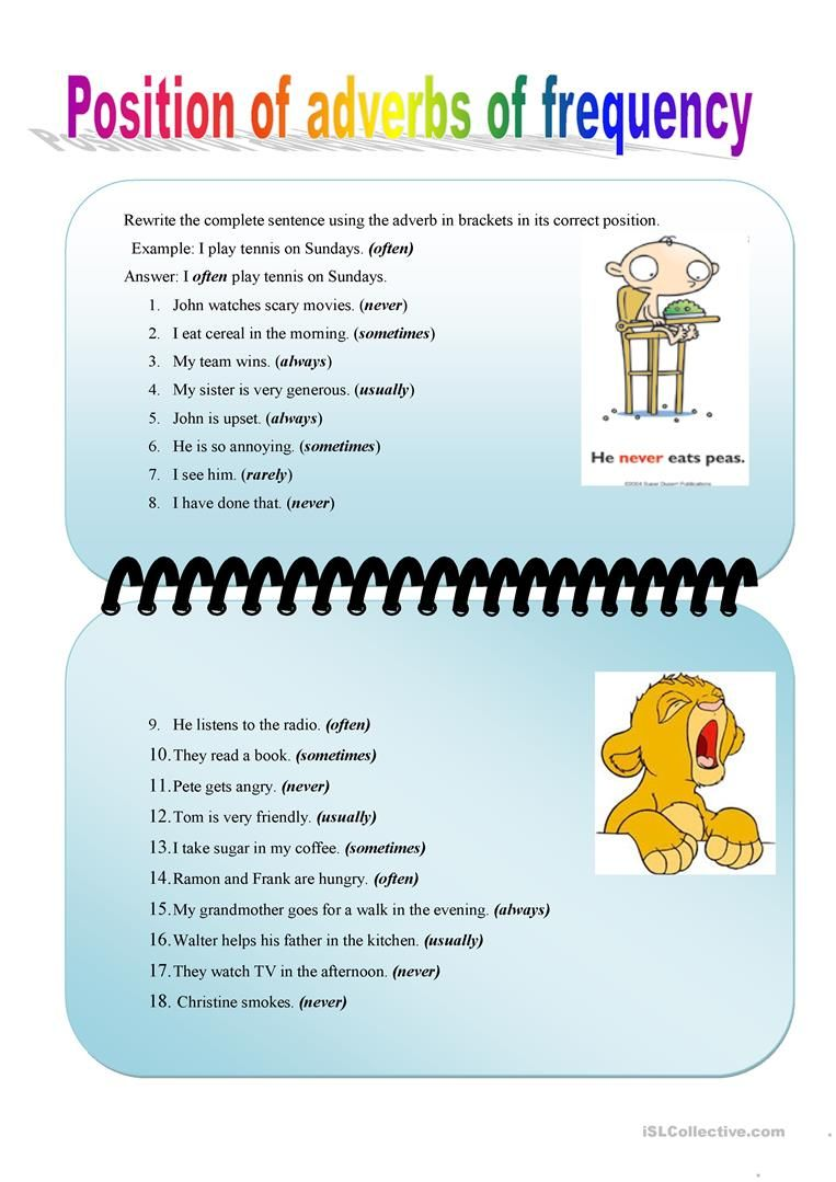 Position of adverbs of frequency   Engels   Pinterest   Adverbs ...