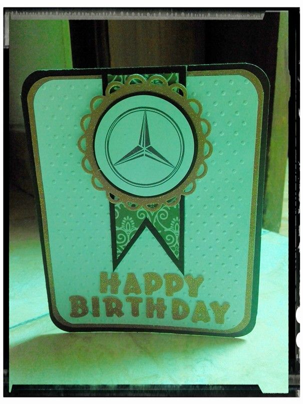 Birthday card mercedes benz reni 39 s hand made for Mercedes benz card