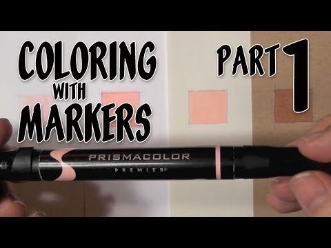 Coloring with Markers - Part 1 - YouTube | Airbrush Stuff ...