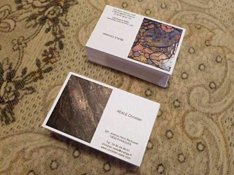 Carte De Visite Lartiste Peintre Christian Reale