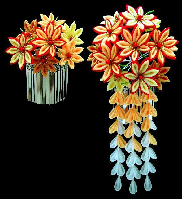 Цветы из атласных китай япония картинки