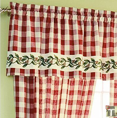 10 Ideas For Cheery 40s Or 50s Kitchen Curtains Country