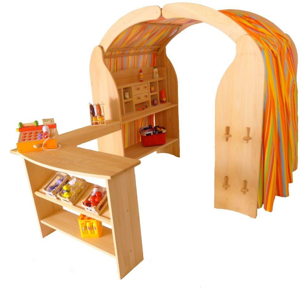 Spieltheke | Erlenholz | Kinder-Spielständer-Theke | Massiv ...