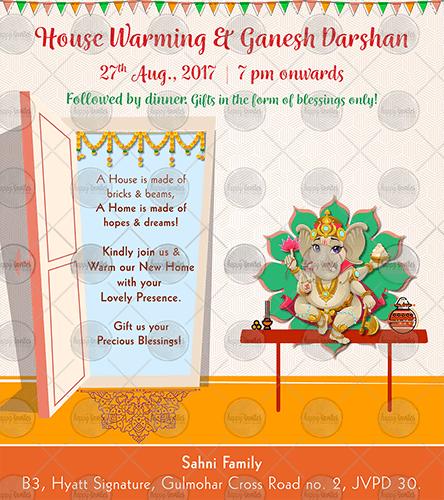 Oe01 House Warming Ceremony Invite In 2020