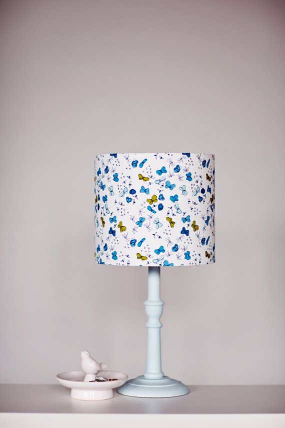 Butterfly Lampshade Butterflies Butterfly By Shadowbrightlamps Drum Lampshade Contemporary Lamp Shades Fabric Lampshade