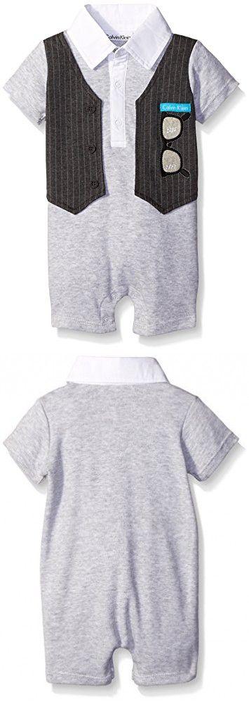 sale retailer f2c1e 9cbc0 Calvin Klein Baby Boys' Romper, Gray, 12 Months | Tute ...