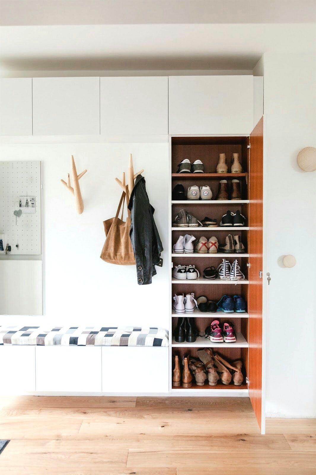 Phantasievolle Ideen Kleiner Flur Stauraum Und Attraktive Schuhe Bis
