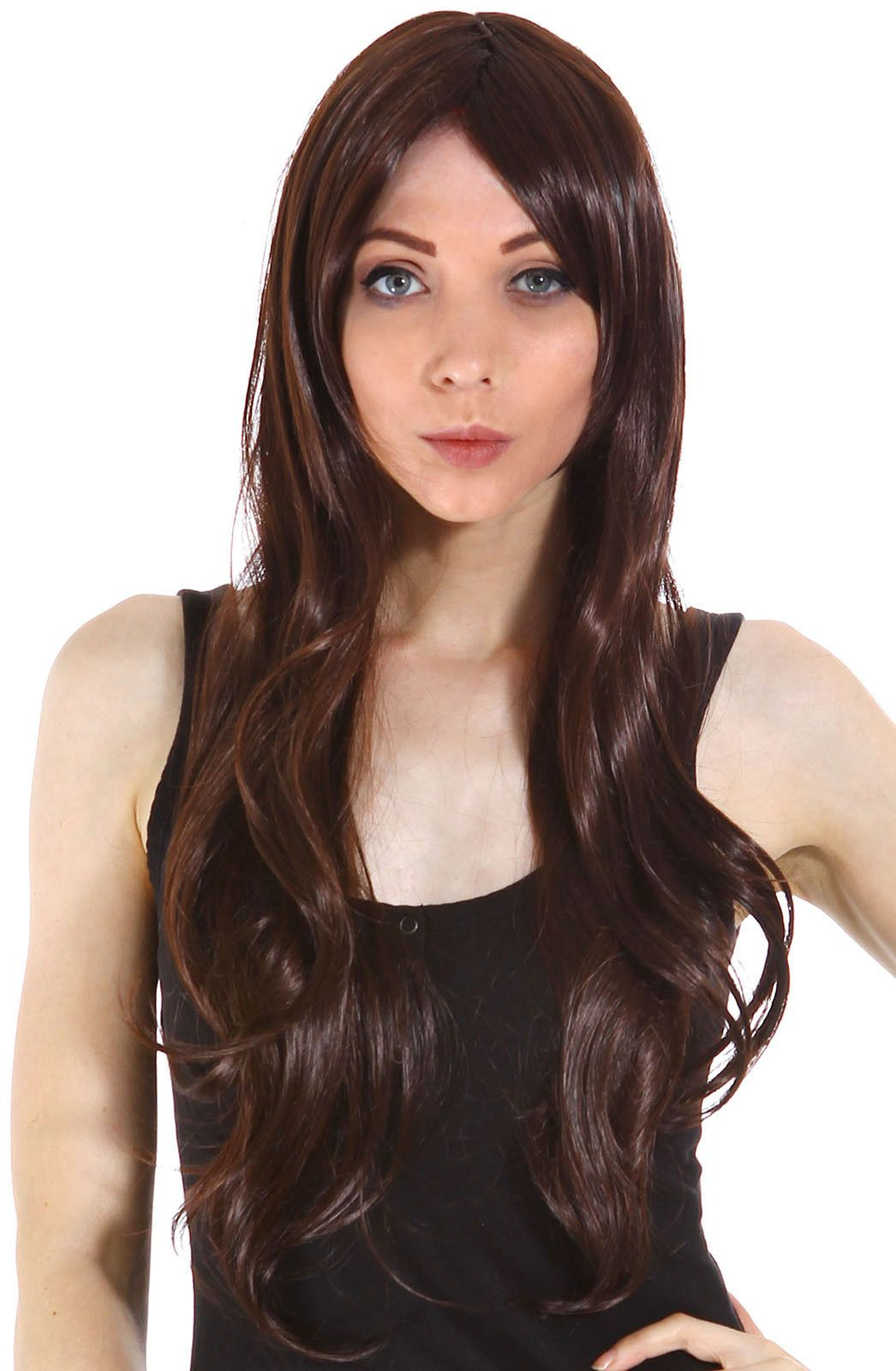 Details about full wig long curly straight full hair wigs