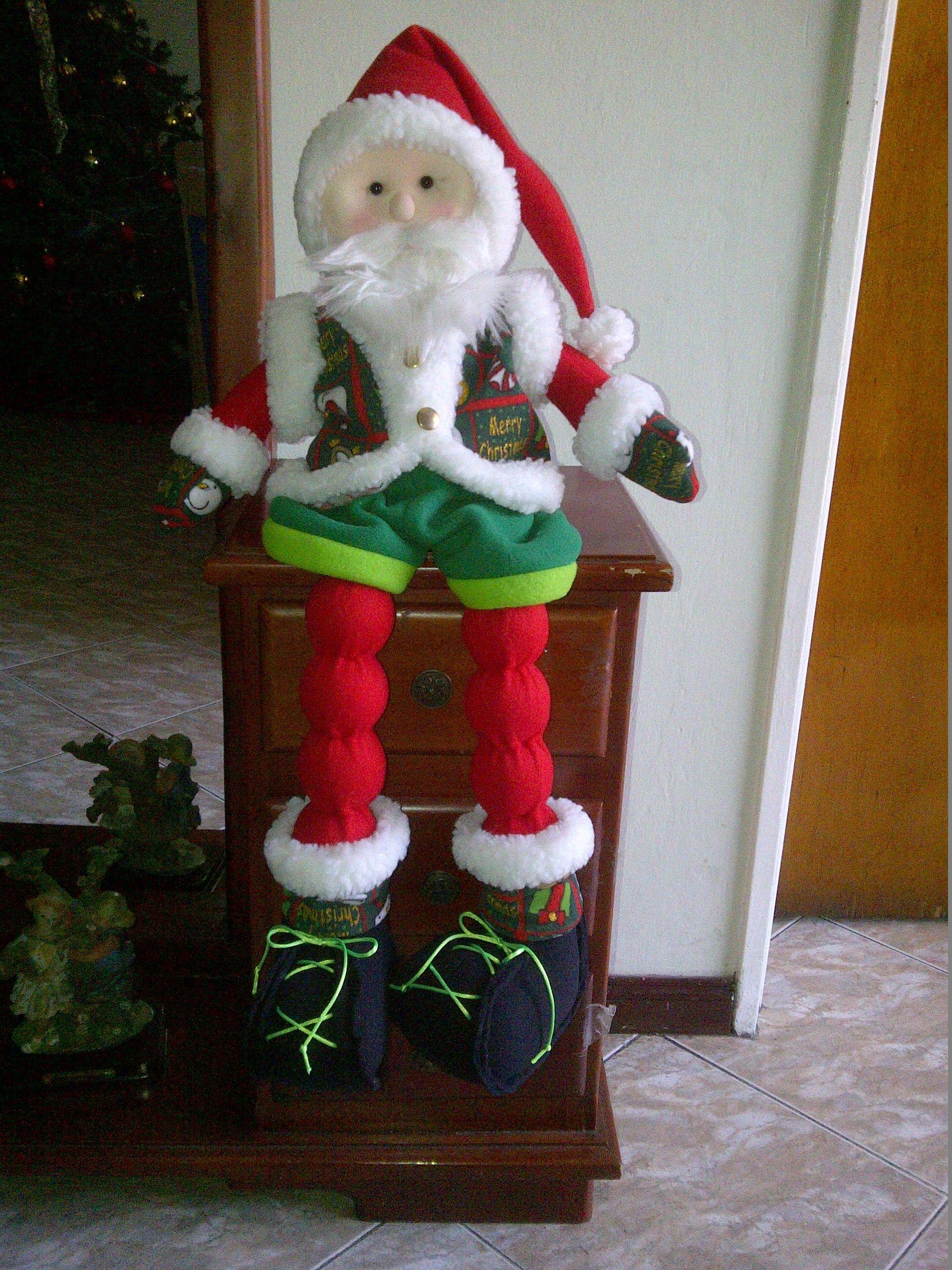 Pap Noel Patas Largas Christmas Craftsromperscute